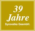 39 Jahre Syrovatka GmbH. Logo