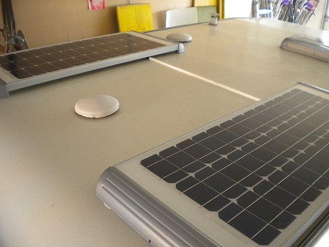 Einbau von Solarzellen